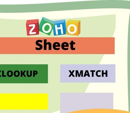 XLOOKUP, XMATCH y 6 nuevas funciones en ZOHO Sheet